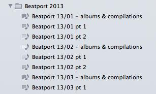 beatport playlists