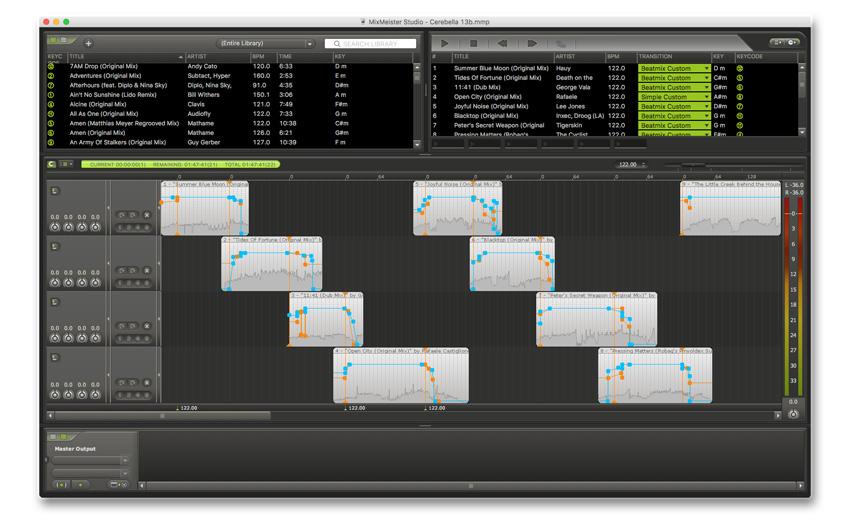Sample DJ mix: Cerebella mixed in MixMeister Studio
