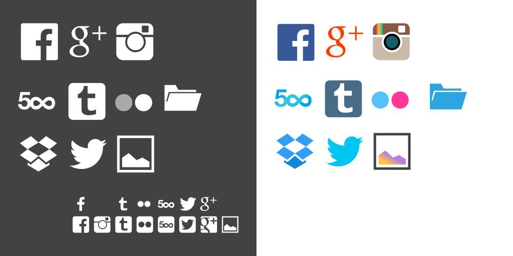 dayframe 2.0 social icons
