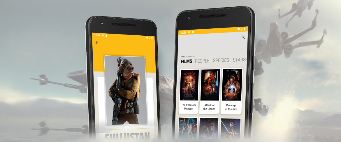 Android exercise: OMG Star Wars 2.0